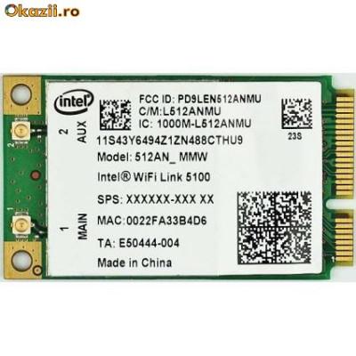 Placa retea laptop 512AN_MMW Intel WiFi Link 5100 a/b/g/Draft-N foto