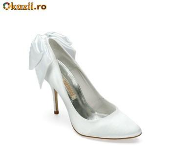 Pantofi Mireasa Albi Saten 6274 298 Branco Buffalo Reducere