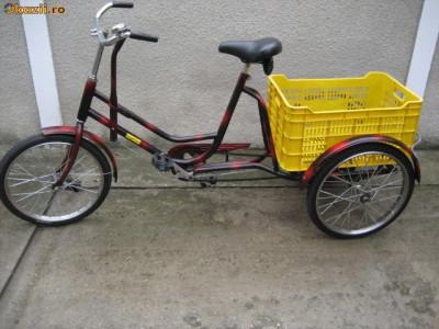 Tricicleta pentru adulti,bicicleta cu trei roti foto