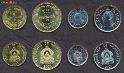 HONDURAS █ SET DE MONEDE █ 5, 10, 20, 50 Centavos █ 2014 █ UNC foto