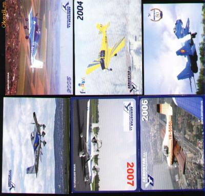 Set 6 calendare de buzunar, Aerostar, avioane foto