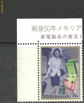 Japonia 1996 - MODA, FEMEIA IN SOCIETATE, timbru nestampilat, B36 foto