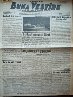 Buna Vestire , ziar legionar , nr.137 , 11 august , 1937 foto