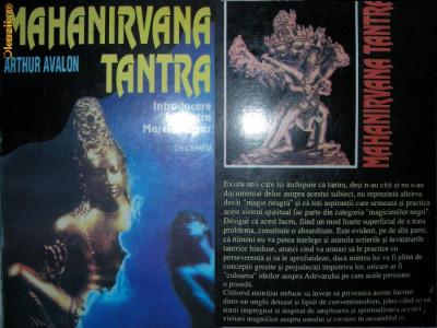 MAHANIRVANA TANTRA ~ Introducere in Tantra Marelui Extaz - Arthur Avalon foto