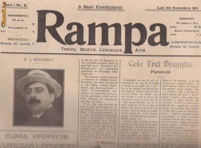 16 reviste RAMPA - teatru,muzica,literatura (1911-1912,Bucuresti) foto