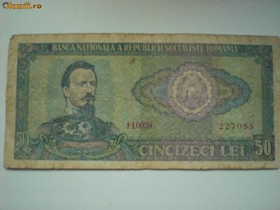 Bancnota 50 lei - 1966 foto