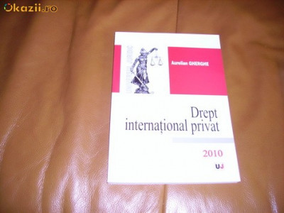 DREPT INTERNATIONAL PRIVAT foto