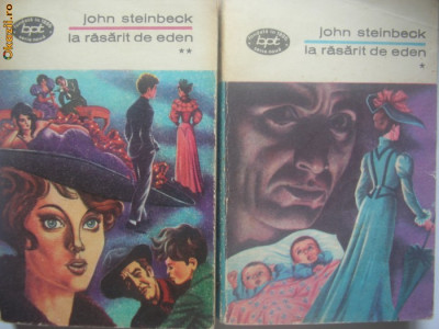 John Steinbeck - La rasarit de Eden - BPT - 2 vol foto