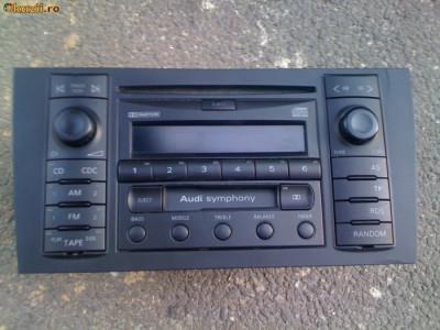 vand radio casetofon plus cd pentru audi A2,A3,A4,A6,A8 audi symphony original!!! decodat!! foto