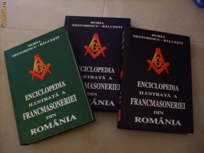 ENCICLOPEDIA ILUSTRATA A FRANCMASONERIEI DIN ROMANIA - H. Nestorescu-Balcesti foto