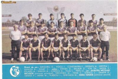 calendar-FOTBAL CLUB ,, ARGES PITESTI``-1989 tip carte postala foto