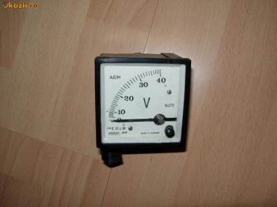 Voltmetru 0-40V foto