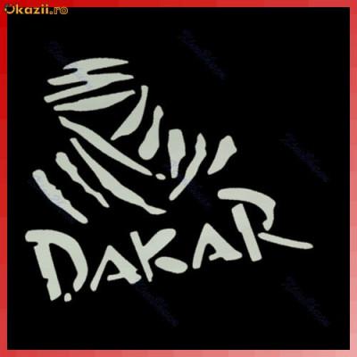 sticker auto DAKAR  Vinyl Motorcycle Car Truck Racing Decal Sticker 13 x 10 cm foto