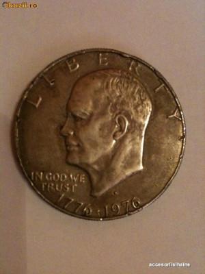 Moneda 1 Dolar SUA Bicentenar Eisenhower foto