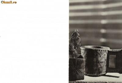 Ilustrata folclor - Cupa si sararita din regiunea Maramures foto