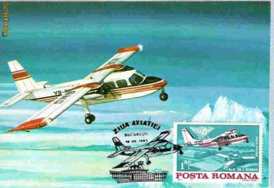 Ilustrata maxima aviatie - avion BN2, Ziua Aviatiei 1985 foto