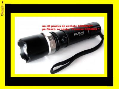 LANTERNA Profesionala POWER STYLE POLICE cu ACUMULATOR Lupa Zoom CREE LED LUXEON 100% 100w pentru Vanatoare Pescuit Militara camping sport timisoar foto