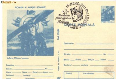 CP intreg postal aviatie - Valeria Mircea Ionescu foto