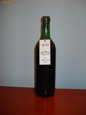 Merlot Dealu Mare 1984 Vin vechi foto
