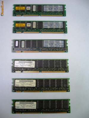 Memorii  IBM  SDRAM 32 Mb. PC.100 foto