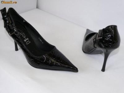 Pantofi femei , eleganti ,negrii (CIFA57 LL835 black)  REDUCERE EXCEPTIONALA DE PRET foto
