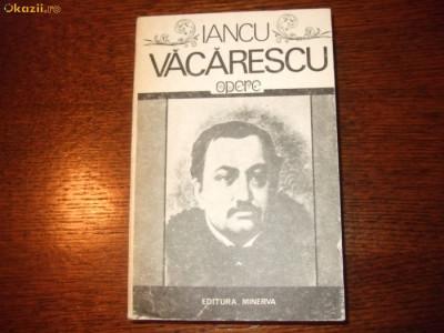 IANCU VACARESCU - OPERE foto