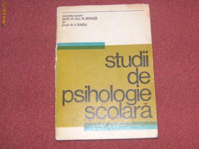 Studii de psihologie scolara - B. Zorgo I. Radu foto