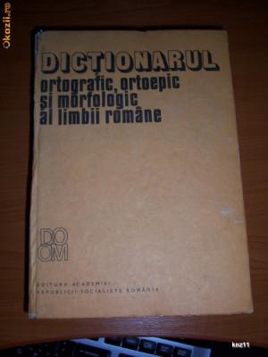 dictionarul ortografic ortoepic si morfologic