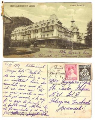 Baile Calimanesti - Valcea - Hotelul Societatii, 1929, circulata foto