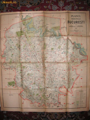 Planul Municipiului Bucuresti - 1946 foto
