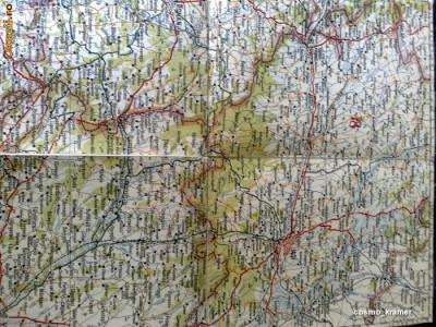Harta Turing Clubul Roman - interbelica - nr 18 - iasi - roman - bacau - vaslui foto