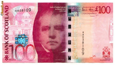 Scotia - 100 pounds (lire) 2007 - Bank of Scotland foto