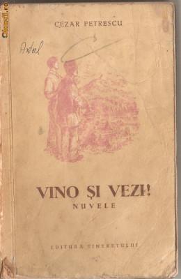 (C1282) VINO SI VEZI! DE CEZAR PETRESCU, EDITURA TINERETULUI, BUCURESTI, 1954, ILUSTRATII DE RADU VIOREL foto