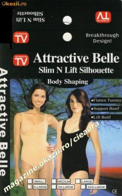 "BODY SHAPING "" ATTRACTIVE BELLE"" SLIM N LIFT SILHOUETTE AS SEEN ON TV CORSET DAMA SLABIT/ SLABIRE / INGUSTARE / SUBTIERE FORME TALIE BURTA ARIPIOARE foto"