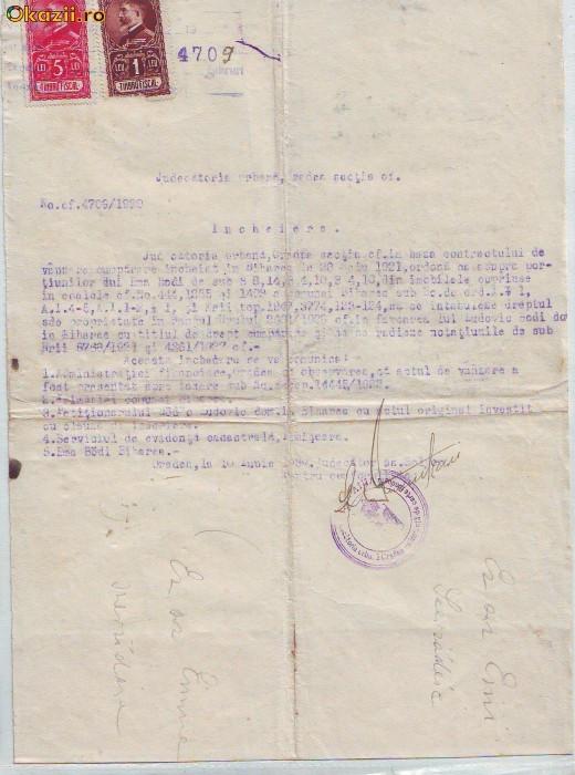 A82 Acte Incheiere Judecatoria Oradea 1930