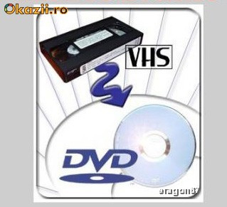 Transfer casete video VHS pe DVD