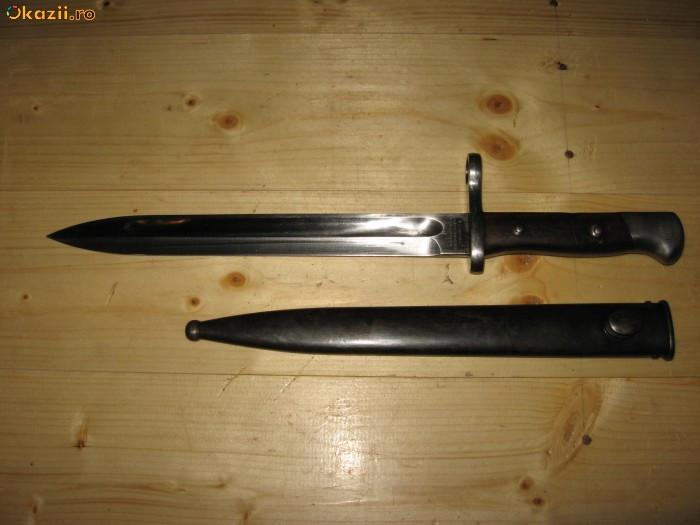 Baioneta solingen folosita in Chile din al doilea razboi mondial foto mare