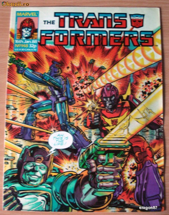 Transformers #148 Marvel Comics foto mare