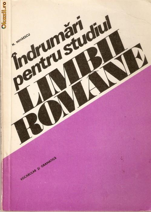 Indrumari ptr. studiul limbii romane foto mare