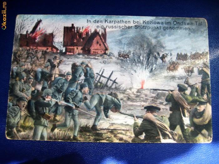Carte Postala - Primul razboi mondial. Lupta de la Koziowa.