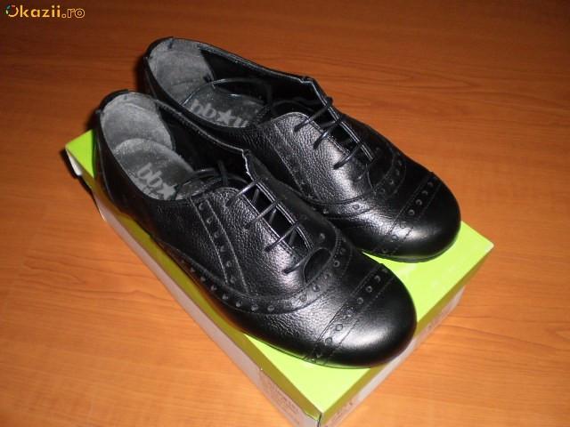 Pantofi noi de piele firma BB*UP,marimea 38 foto mare