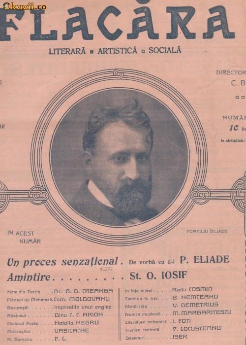 Revista Flacara : Pompiliu Eliade (1912,desene Iser)