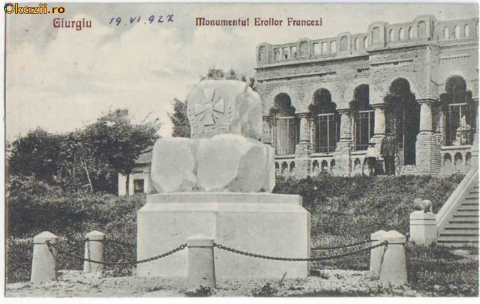 795 - GIURGIU - Monumentul eroilor FRANCEZI - 1921 foto mare