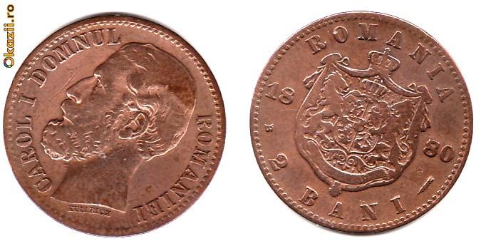 * Moneda 2 bani 1880