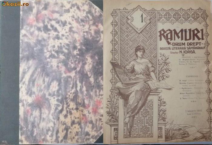 Revista Ramuri,1922,an complet in volum,48 numere