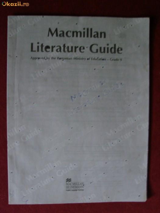 MACMILLAN LITERATURE GUIDE GRADE 9 foto mare