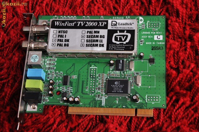 TV Tuner Winfast TV 2000 XP (Leadtek)  = 80 ron foto mare
