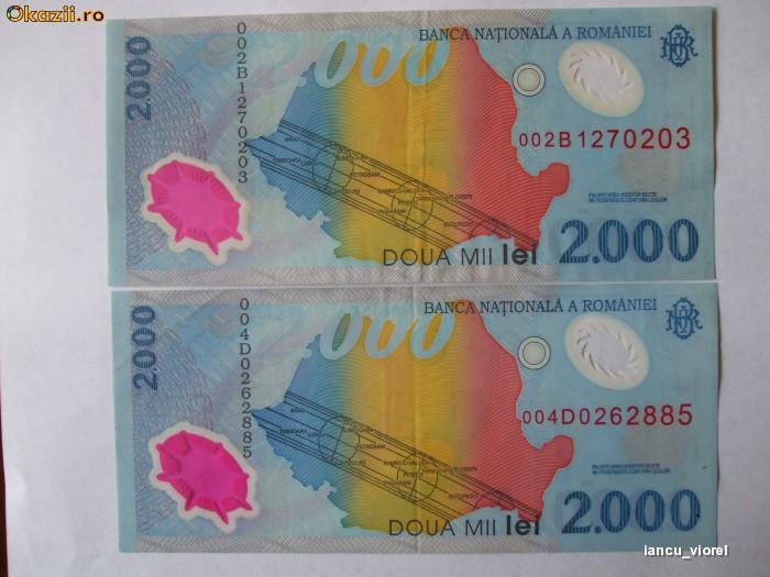 BACNOTE, ROMANESTI, 2000 LEI ,ECLIPSA(viorel) foto mare