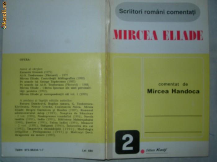 MIRCEA ELIADE comentat de Mircea Handoca
