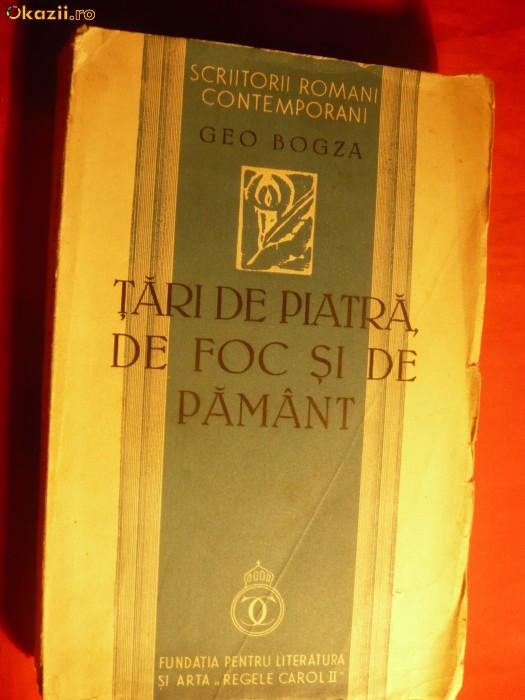 GEO BOGZA - TARI DE PIATRA, DE FOC, SI DE PAMANT- 1939